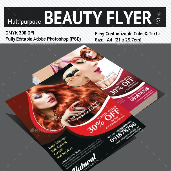 Multi Purpose Beauty Flyer - Vol4