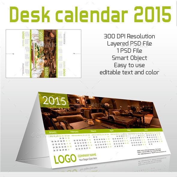 Desk Calendar for 2015 ready for print