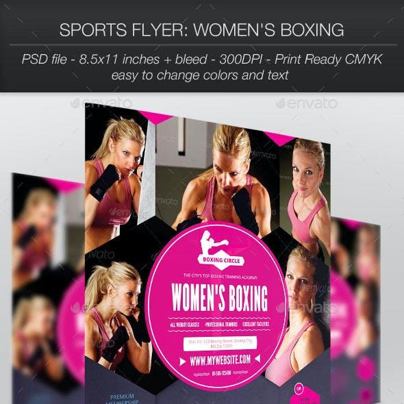 Sports Flyer: Women's Boxing