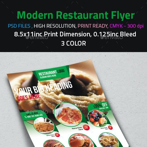 Modern Restaurant Flyer