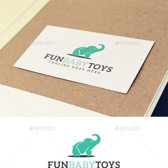 Fun Baby Toys Logo Design Template