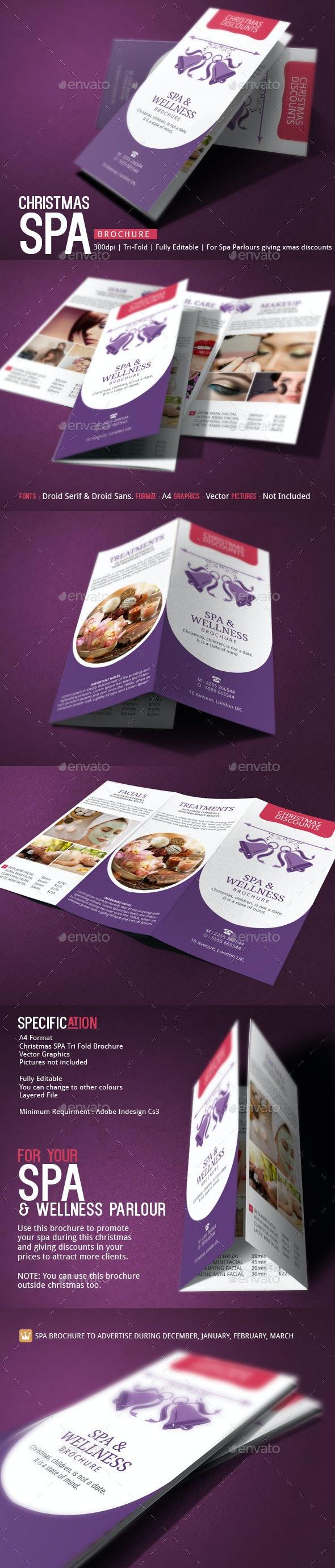 Spa Brochure Template Christmas Deals - Corporate Brochures