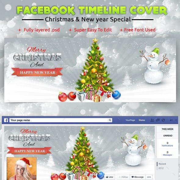 New Year Xmas Facebook Cover