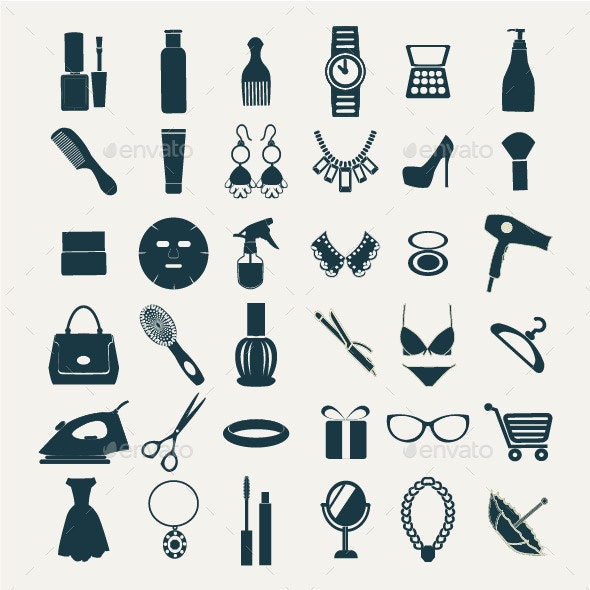 Fashion and Women Accessories Icons