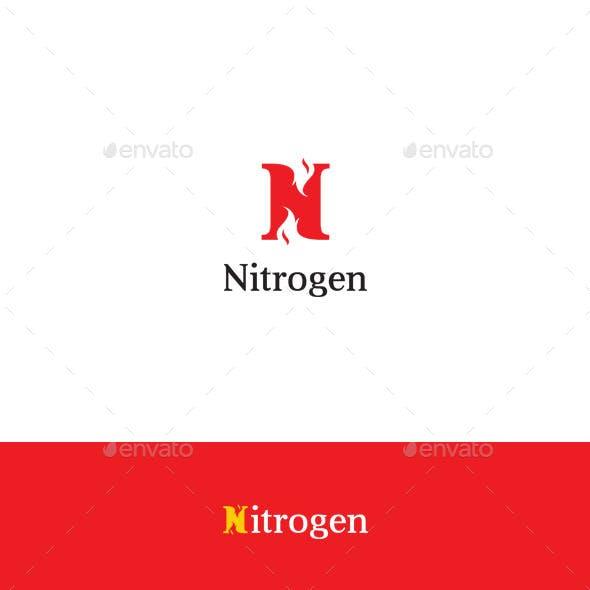 Nitrogen - Letter N Logo