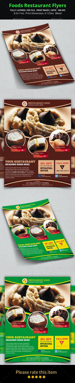 Foods Restaurant Flyers - Restaurant Flyers