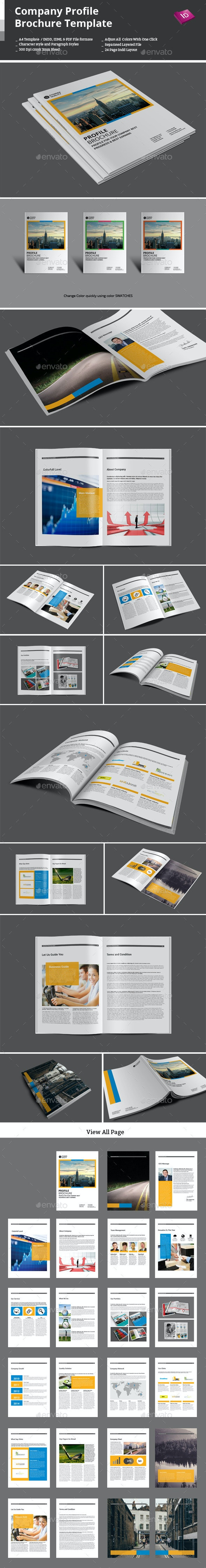Company Profile Brochure Template - Corporate Brochures