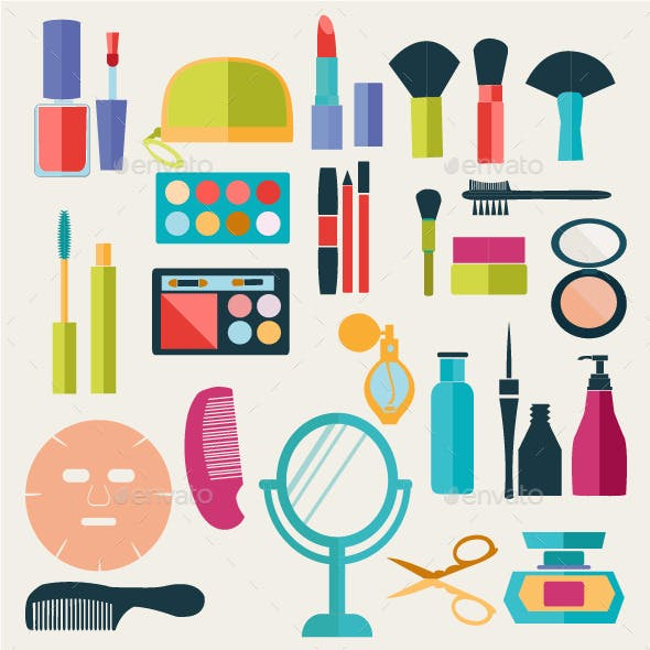 Make-up Beauty Cosmetic Icons