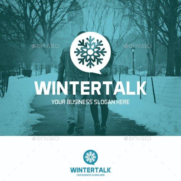 Winter Talk Snowflake Logo