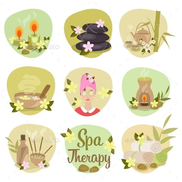 Spa Flat Icons