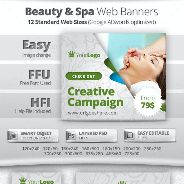 Beauty & Spa Web Banners