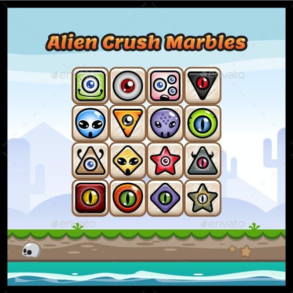 Alien Crush Marbles