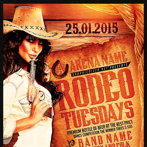Rodeo Tuesdays | Flyer Template PSD