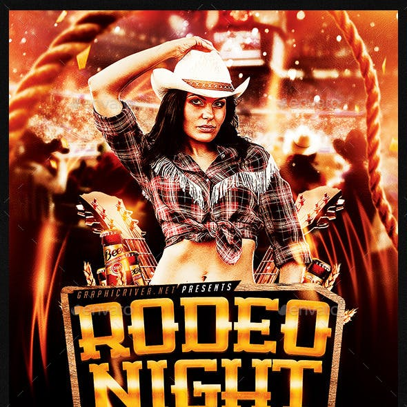 Rodeo Night Tuesdays | Flyer Template PSD