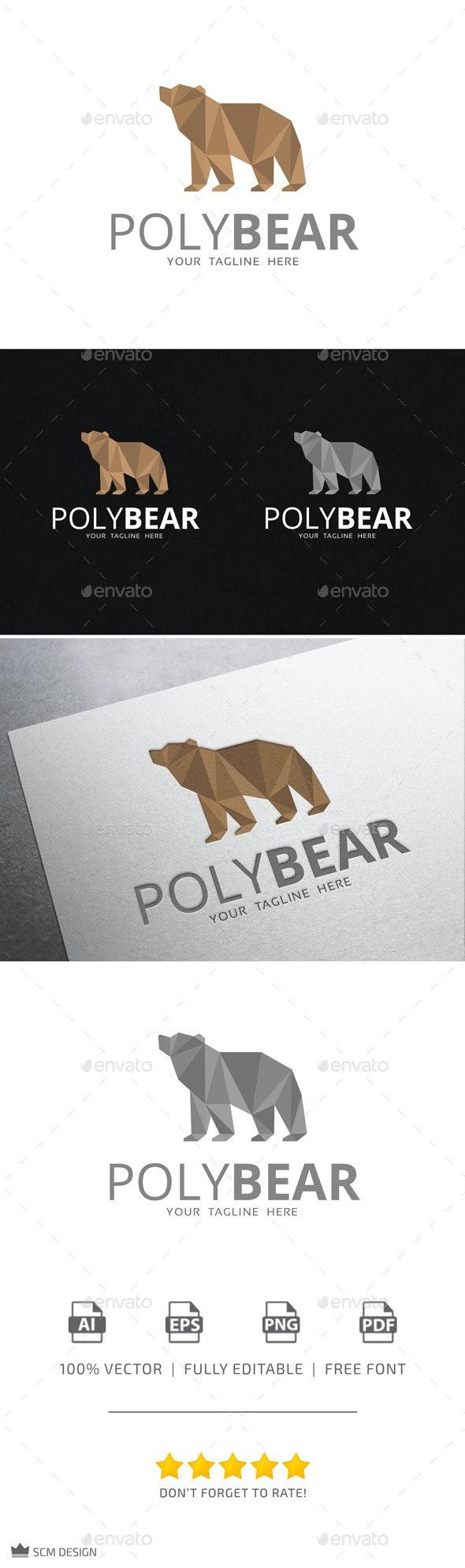 Poly Bear Logo - Animals Logo Templates