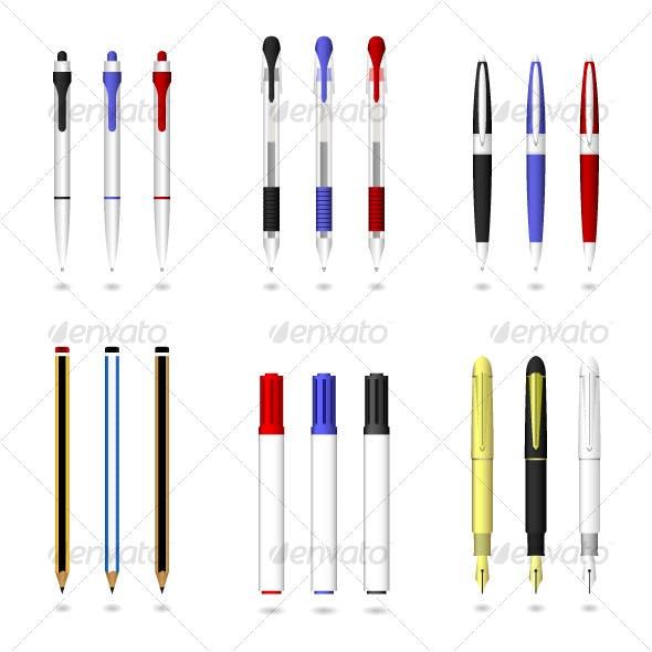 Pen Pencil Marker Writing Tool Vector