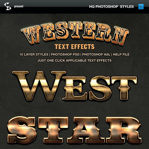Wild West Style Text Effects - Western Styles
