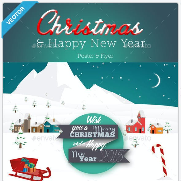 Christmas & New Year - Poster & Flyer
