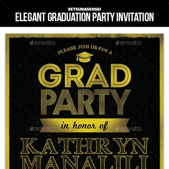 Elegant Graduation Party Invitation