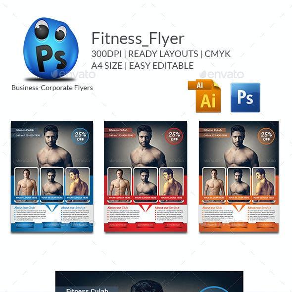 Fitness Flyer Print Templates