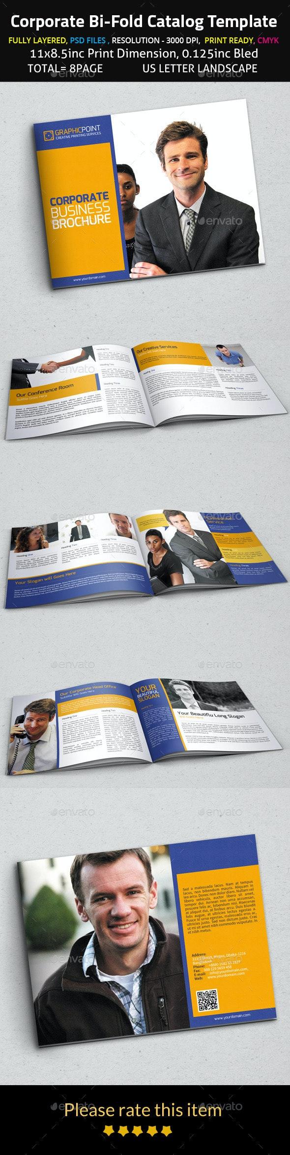 Corporate Bi-Fold Catalog Template - Corporate Brochures