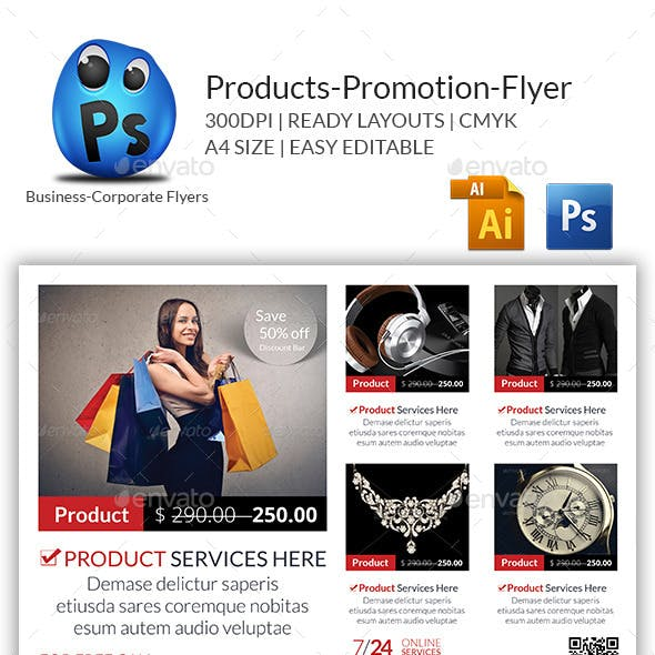 Products Flyers Print Templates