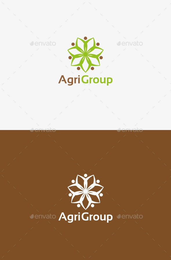 Agriculture People Logo - Humans Logo Templates