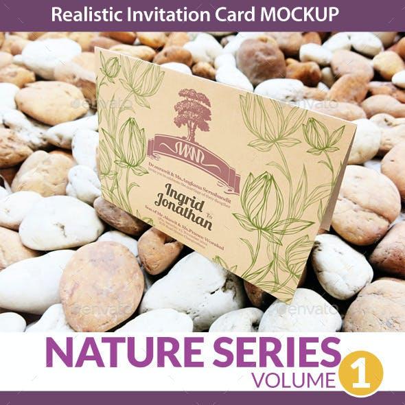 Invitation Card Mockup Nature Series Volume1