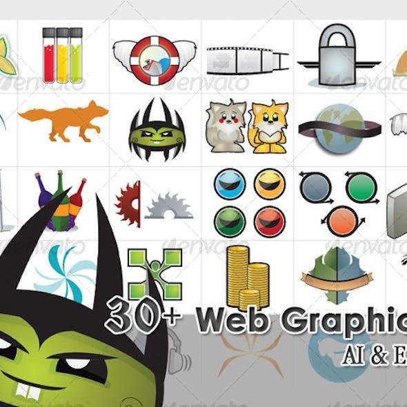 30 Web Elements and Illustrations
