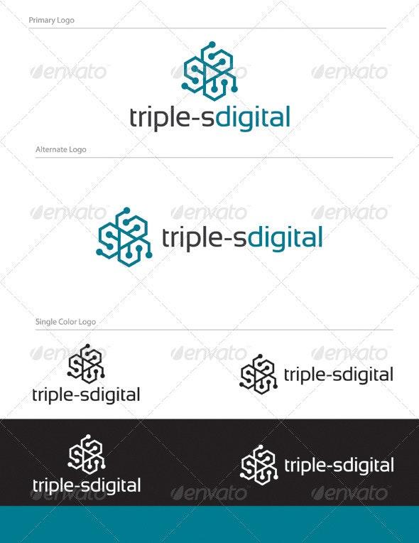 Triple-s Logo Design - Let 01 - Letters Logo Templates