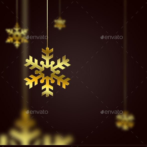 5 Golden Snowflakes