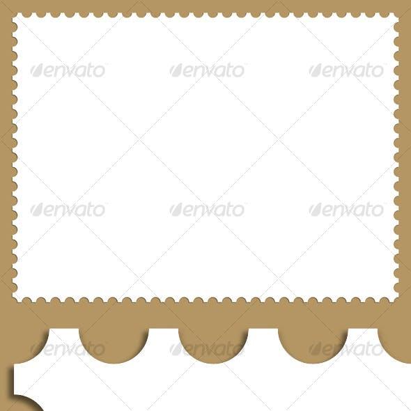 Stamp Border Background