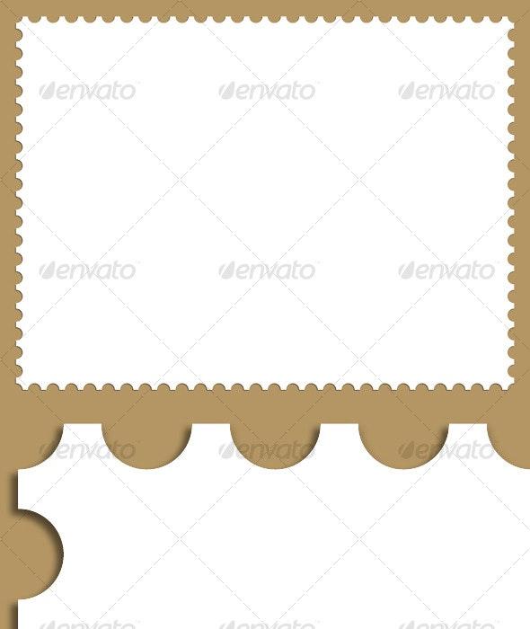 Stamp Border Background - Backgrounds Decorative