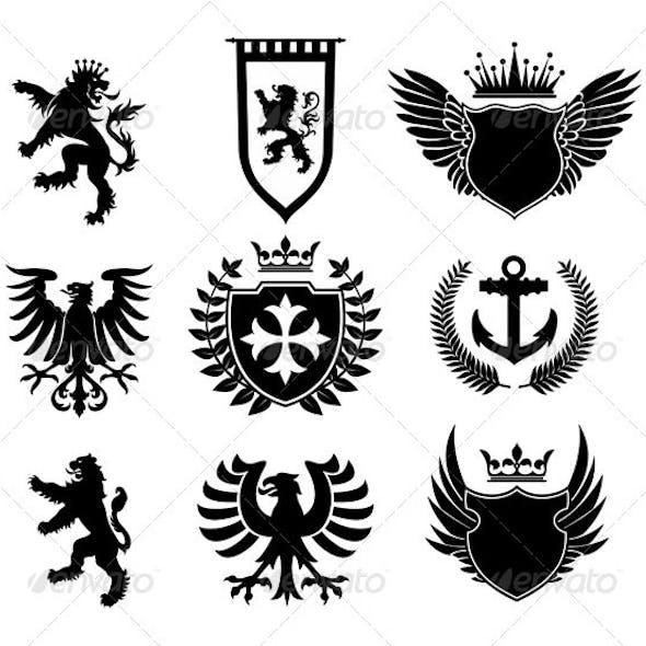 Heraldic designs elements