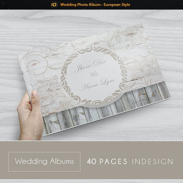 Wedding Photo Album Template - European Style