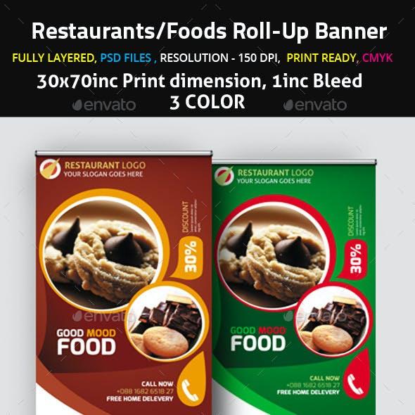 Restaurants/Foods Roll-Up Banner