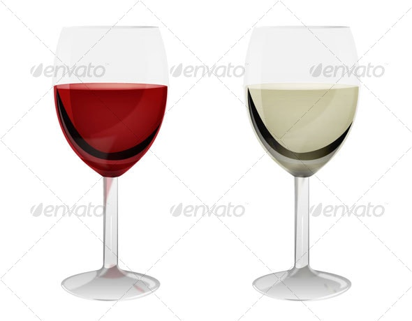 Wine Glasses - Food Objects
