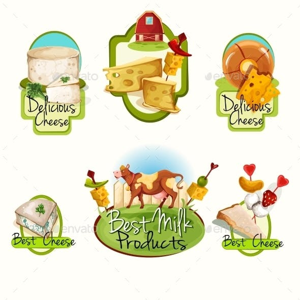 Cheese Labels Set