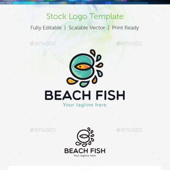 Beach Fish  Stock Logo Template