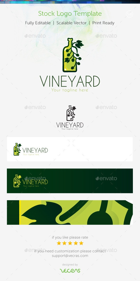 VineYard  Stock Logo Template  - Abstract Logo Templates