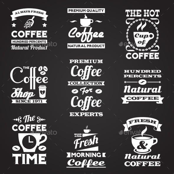 Coffee Vintage Labels Set