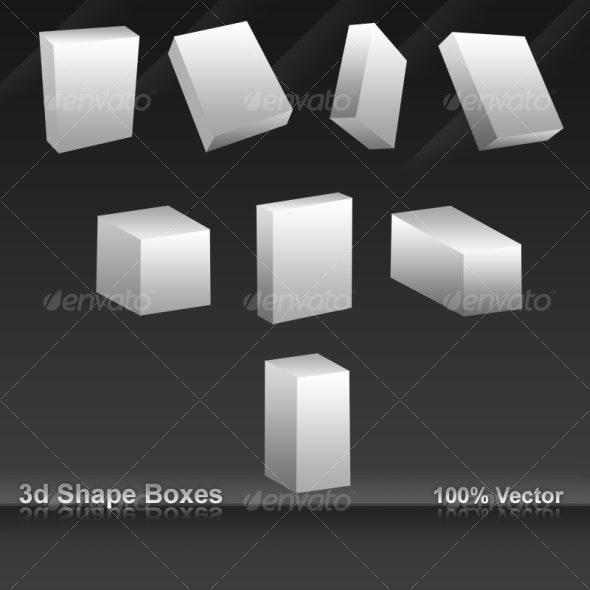 3D Shape boxes - Miscellaneous Web Elements