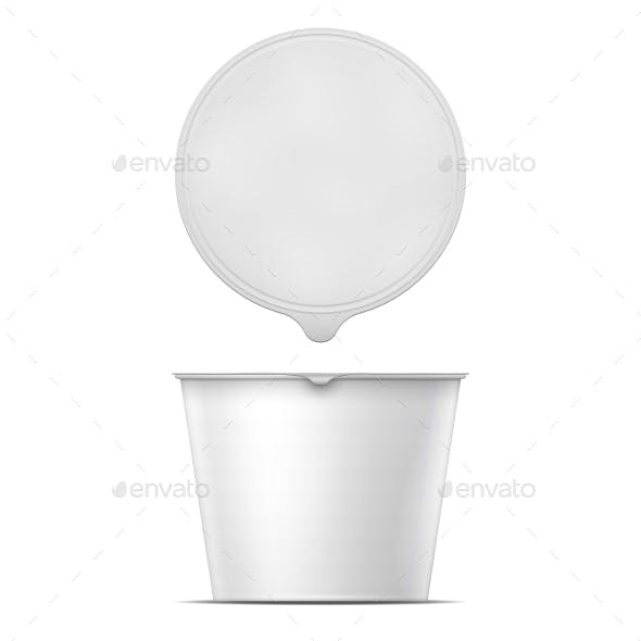 White Instant Noodles Bowl Template