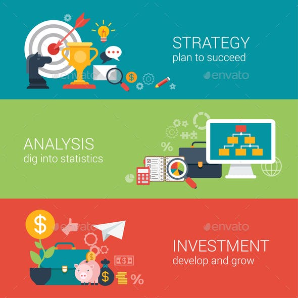 Business Success Strategy Infographic Concept