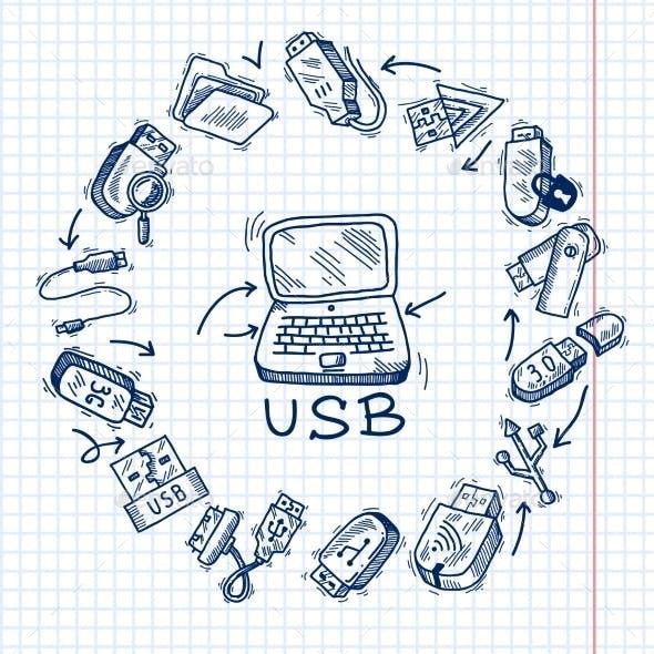 Usb and computer