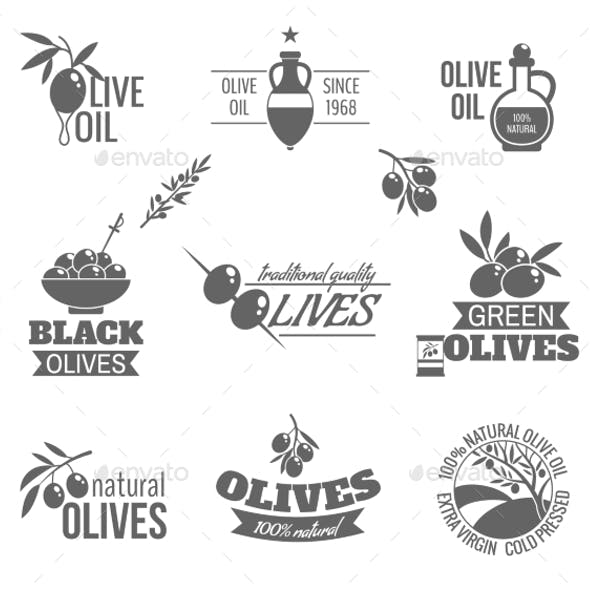 Olives Label Set