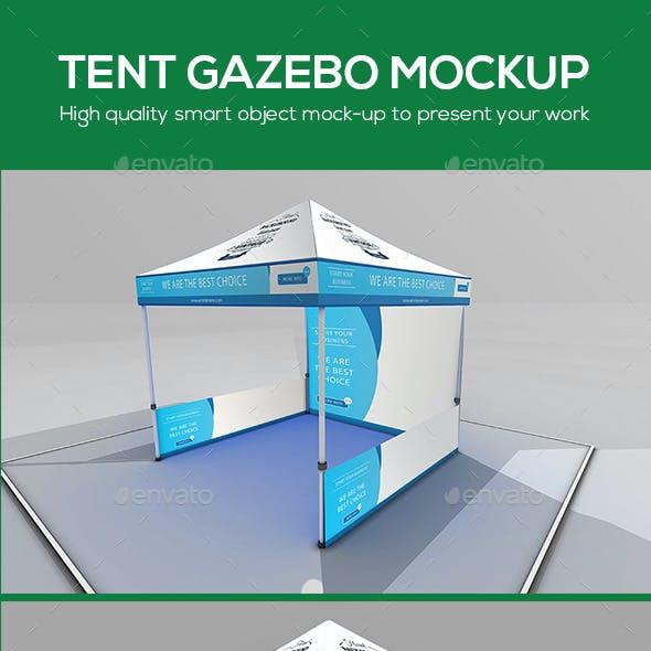 Tent Gazebo Mockup