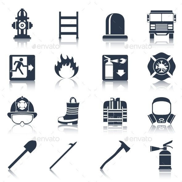 Firefighter Icons - Miscellaneous Vectors