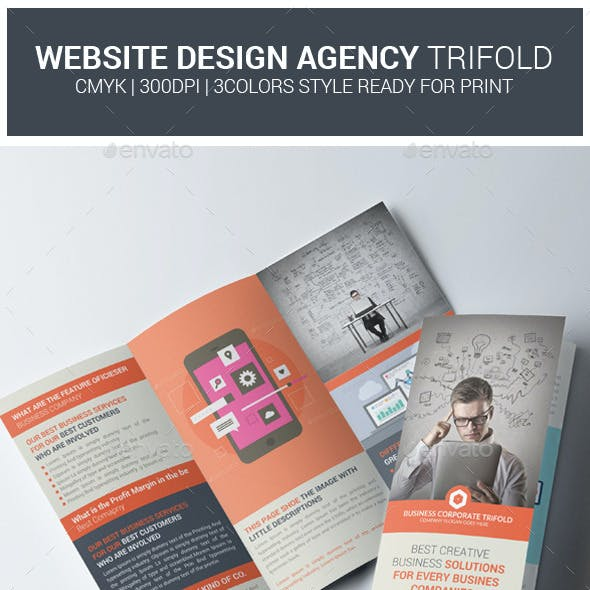 Website Design Agency Trifold Brochure