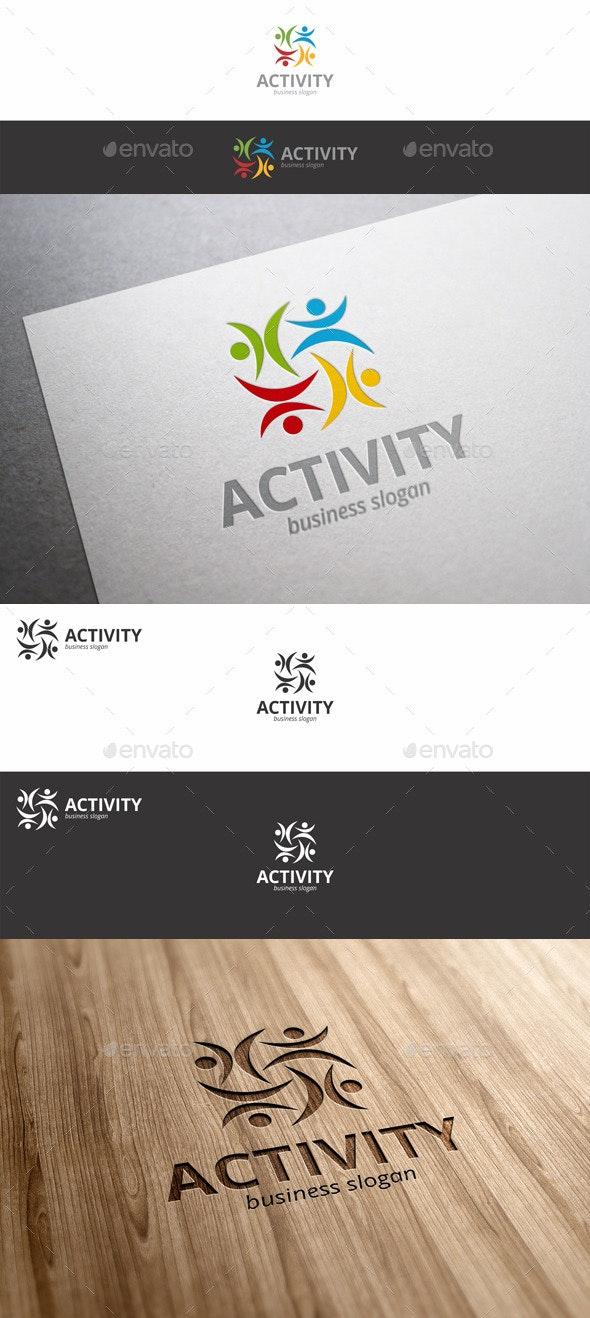 Activity Fitness Human Symbol Logo - Symbols Logo Templates